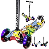 AMZCARS Kick Scooter 3-12 Years Old for Kids, 3 Wheels Toddlers Scooter for Boys Girls Gifts