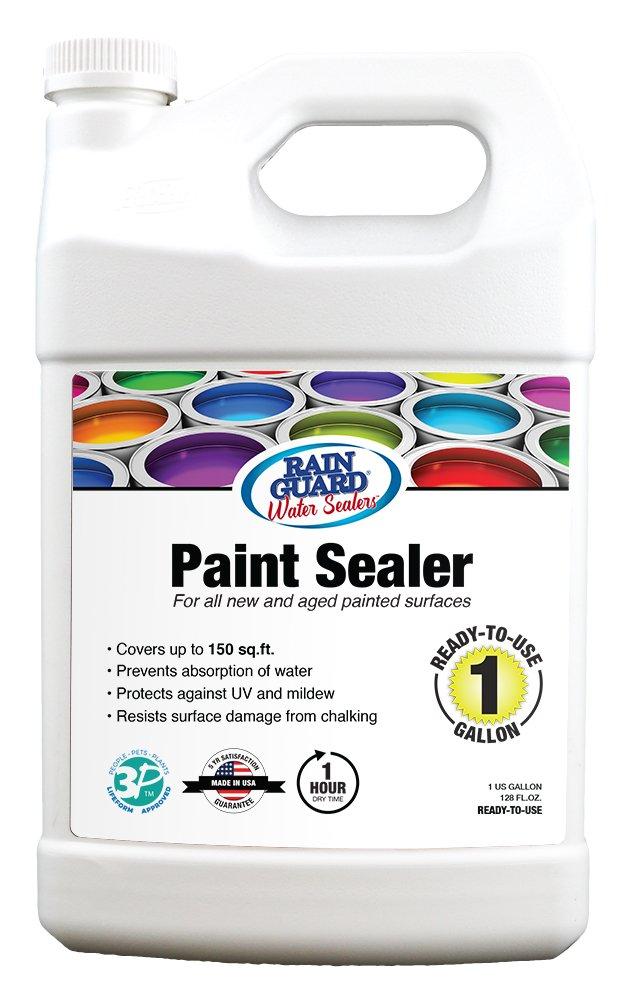 Rainguard International SP-9004 Ready to Use 1 Gallon Premium Paint Sealer, Moisture Protection & Stain Resistant Clear Acrylic Paint Sealer