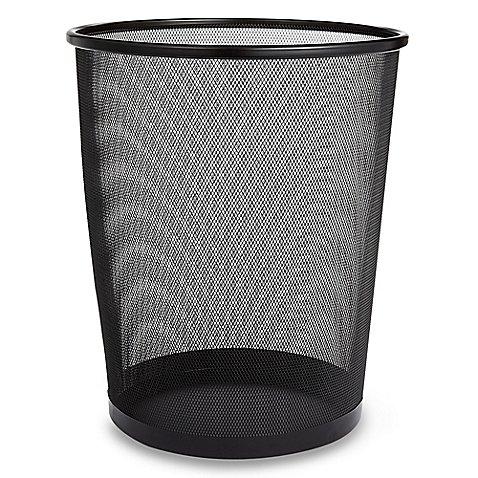 Mesh Metal Wastebasket in