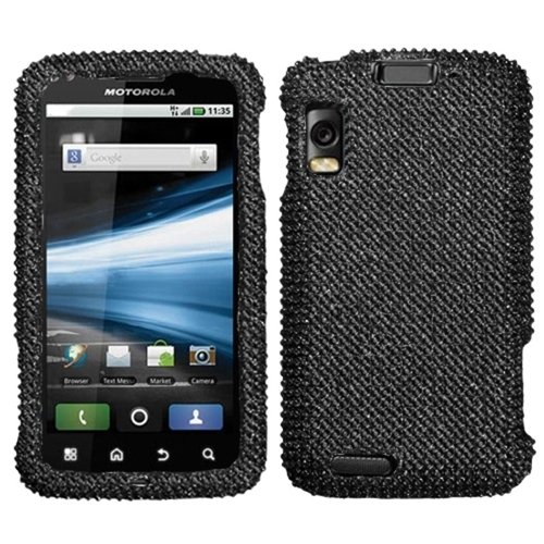 Mybat MOTMB860HPCDMS003NP Dazzling Diamante Bling Case for Motorola Olympus/Atrix 4G MB860 - Retail Packaging - Black