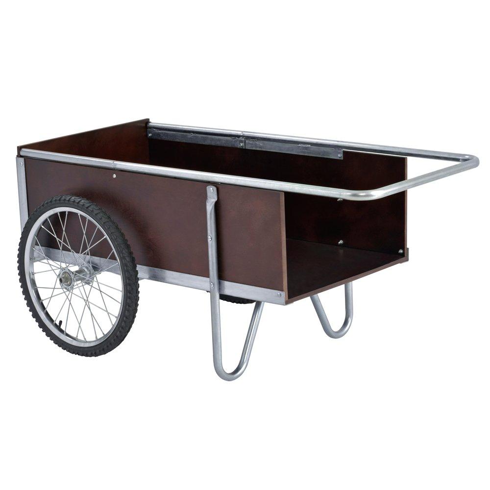 Sandusky Lee GC5332 6.5 Cubic Foot Galvanized Steel Edging  Garden Cart, 52.5'' Length, 21.25'' Height, 31.50'' Width