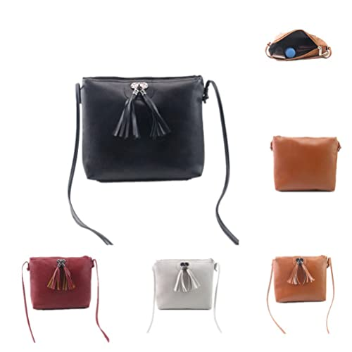 9cf455f284c Amazon.com: Single Shoulder Bag,AfterSo Women Tassel PU Leather ...