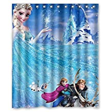 Modern design Eco-Friendly Frozen Cartoon Movie Elsa Anna Olaf Kristoff Sven Shower curtain, Width * Height / 60 * 72 inch / 152 * 183cm, Polyester, best for gift