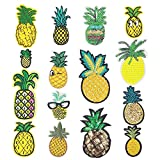 Libiline Embroidered Patch Pineapple Sew On/Iron On Patch Applique Clothes Dress Plant Hat Jeans Sewing Flowers Applique DIY Accessory (Pineapple)