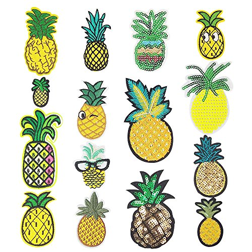 ed Patch Pineapple Sew On/Iron On Patch Applique Clothes Dress Plant Hat Jeans Sewing Flowers Applique DIY Accessory (Pineapple) ()