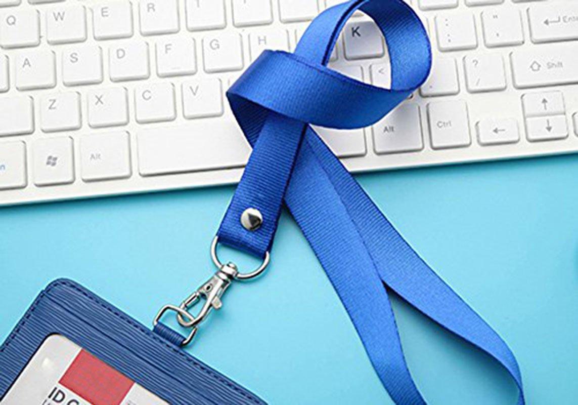 1,5 cm con fibbia in metallo 5 portachiavi da collo in poliestere colore casuale per badge Leisial