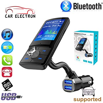 Wireless Bluetooth Car Kit FM Transmitter Radio Adapter USB Charger for Phone US