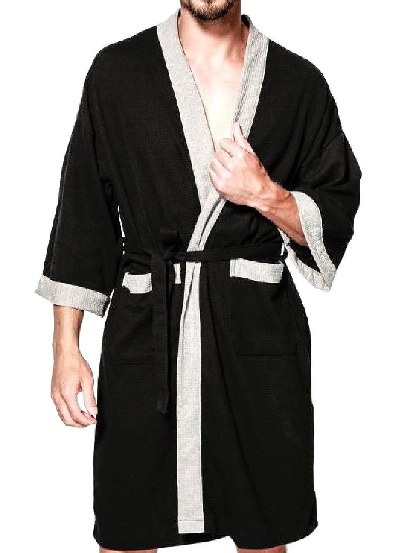 Yayu Men Sleepwear Short Sleeve Striped Shorts and Top Pajama Set