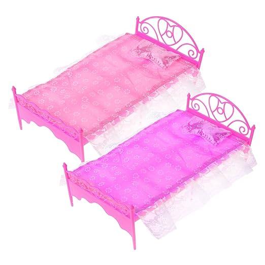 Valcano Color Rosa Mini de Cama con cojín para Barbie de ...