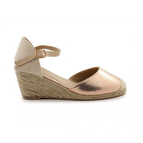 zapatos de separación bcec8 f4139 Cuña de Esparto Brillo Nude - Benavente