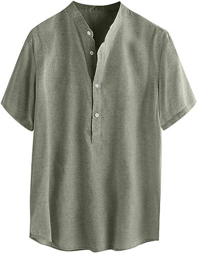 Camisas de lino para hombre, estilo étnico, estilo hawaiano ...