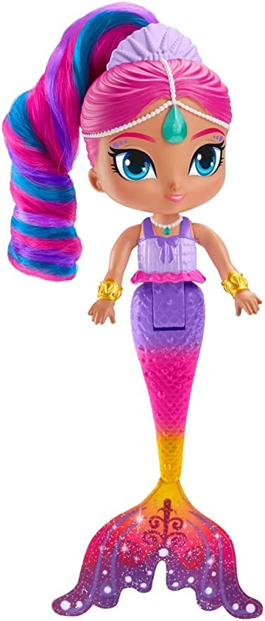 """NEW Shimmer and Shine Mermaid Rainbow Zahramay Shine Hair Changes Color 9/"""""""