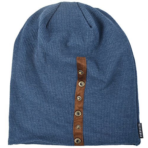 0d2cb00285fea Z S Chic Mens Slouchy Loose Beanie Cotton Skull Cap Winter Hat B020 (Navy)