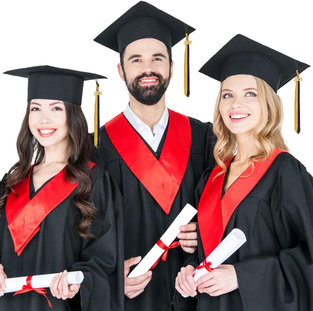 Eaaglo 2020 Graduation Tassel with Year Charm Class of 2020 Academic Graduation Ceremony Decoration 9 2 pcs Navy