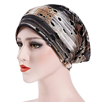 cc83cb817 Amazon.com: Botrong Women India Hat Muslim Ruffle Cancer Chemo Hat ...
