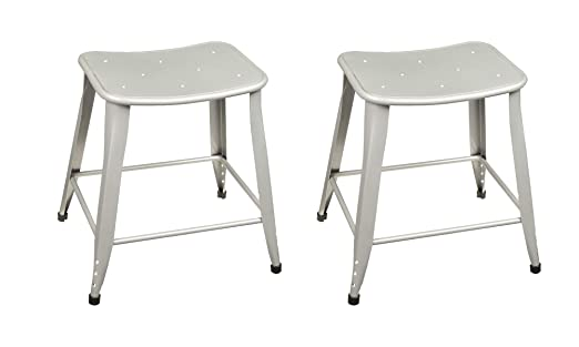 Remarkable Norwood Commercial Furniture Contoured Metal Stool 18 Seat Height Silver Nor Bt3604 18 So Pack Of 2 Frankydiablos Diy Chair Ideas Frankydiabloscom