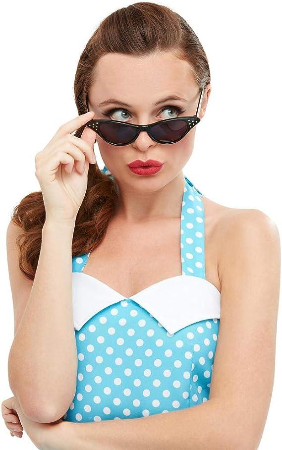 Amakando Gafas de Sol años 50 Rockabilly / Negro / Lentes de ...