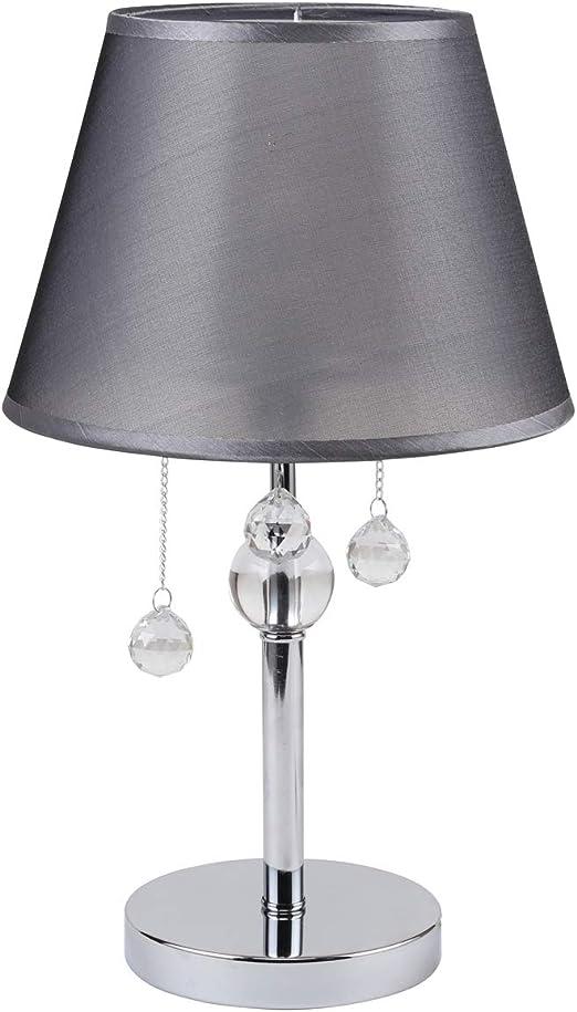 Klassische Kristall Nachttischlampe Acryl Design Lampe Tischlampe Schwarz