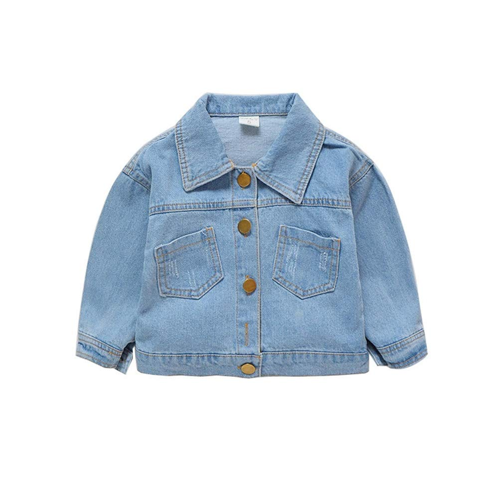 ESHOO Girls Denim Jean Coat Jacket Outwear Tops Cowboy Clothes