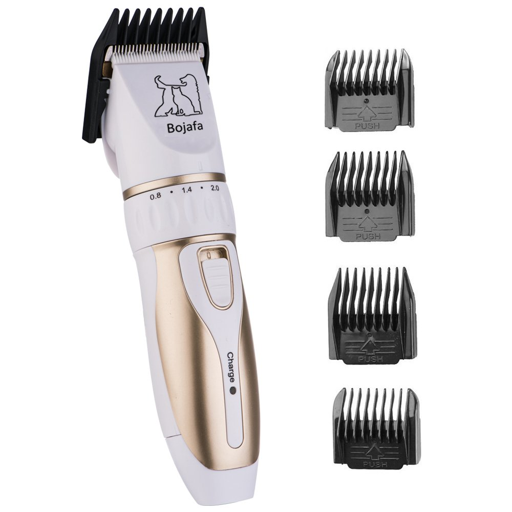 Bojafa Dog Grooming Clippers Low Noise Cordless Pet Grooming Clippers Tools Horse Cat Dog Hair Clippers Shaver Kit by Bojafa (Image #3)