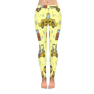 e050983718 INTERESTPRINT Funny Kid's Toy Cartoon Excavator Truck Stretchy Capri  Leggings Skinny Yoga Pants 4XL
