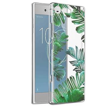 Eouine Funda Sony Xperia XZ1 Compact, Cárcasa Ultrafina Silicona 3D Transparente con Dibujos [Antigolpes