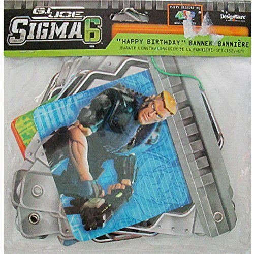 G.I. Joe 'Sigma 6' Happy Birthday Banner (1ct) -