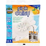 Compac Sink Daisy Scented Kitchen Sink Strainer, Mandarin, 12 Count