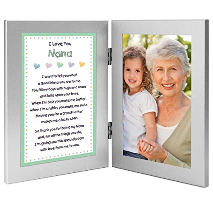 Amazon.com - Poetry Gifts Nana Picture Frames I Love You Nana Poem ...