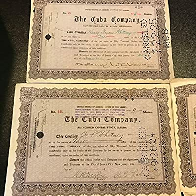 (1) Harry Payne Whitney Signed Stock Certificates Kentucky Derby Regret Whiskery - Autographed Horse Racing Miscellaneous Memorabilia