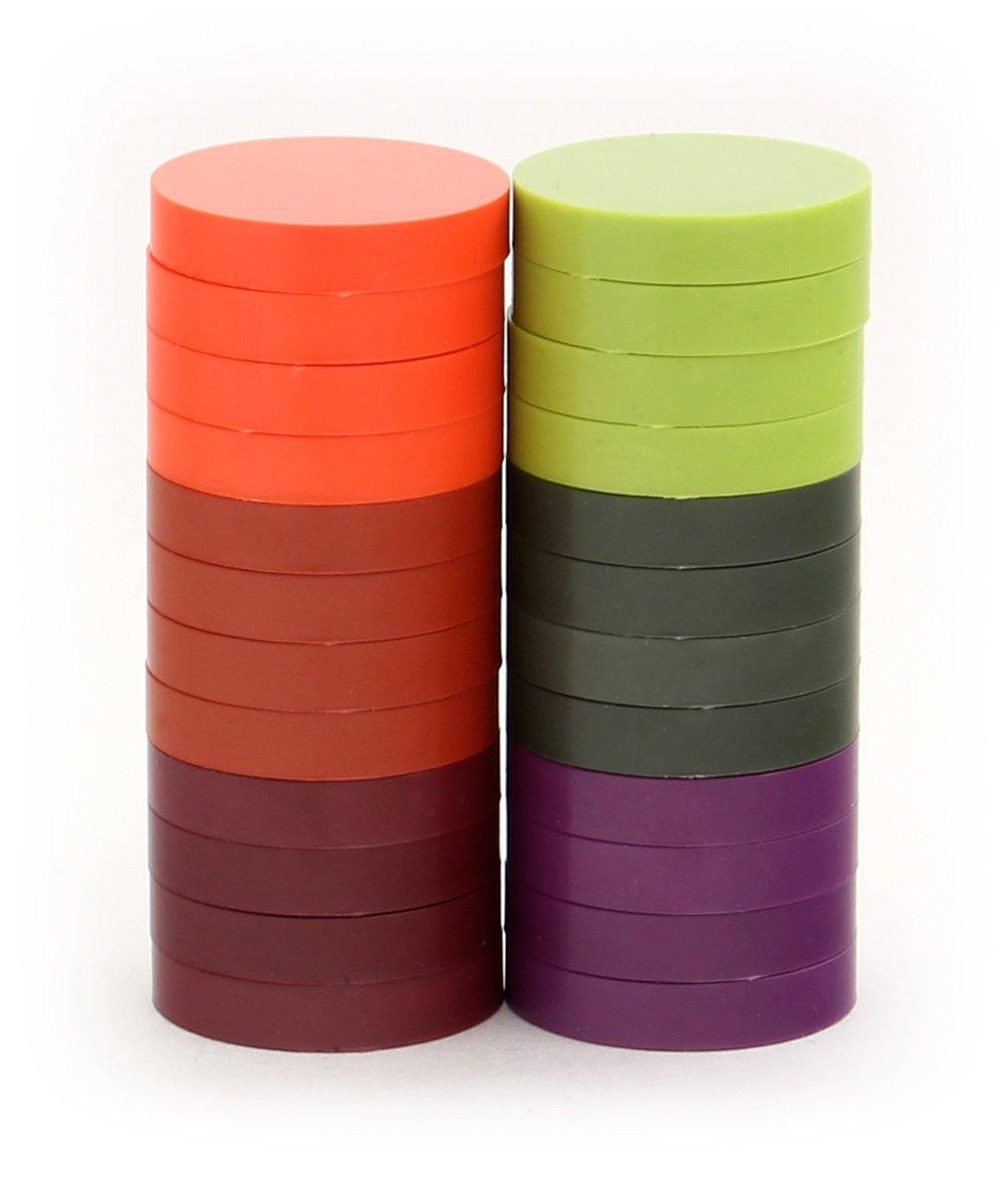 24-Pack Alea Tools 1-Inch Magnetic Status Markers Kickstarter Hues