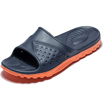 WODEBUY Men's Shower Sandals Antislip Fast Dry Flilp Flop Flats Bathroom and Gym Slider Sandals