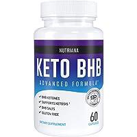 Nutriana酮饮食BHB药-男女酮症酮药-酮营养品BHB盐-酮症酮营养品外源酮-酮药60粒