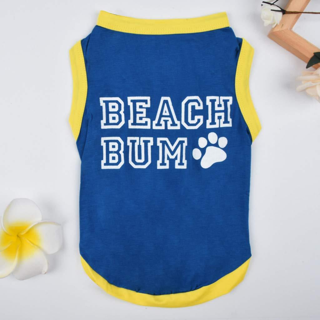 Summer Styles Shirts Pet T-Shirt//Dog Clothing Hawaiian Breeze Dog Apparel Sundress T Shirt Clothing Puppy Clothes Colorful Beachwear Shirts