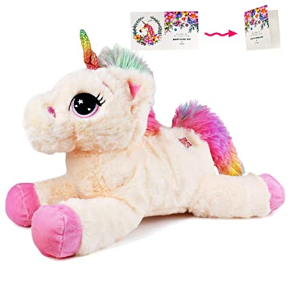 Amazon Com Danirora Unicorn Stuffed Animal 14 5 Unicorn Gifts For