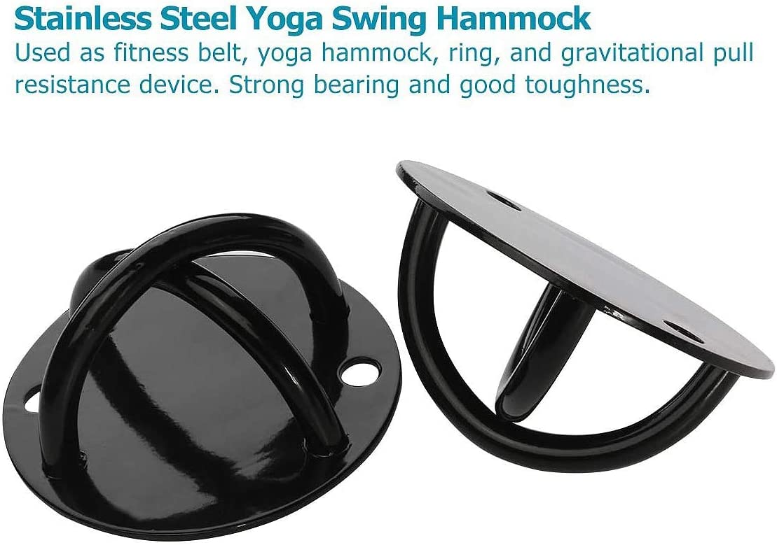 SNOWINSPRING 2Pcs Ceiling Wall Mount Anchor for Suspension Strap Strength Training Gym Yoga Bracket Olympic Rings Swing Hammock