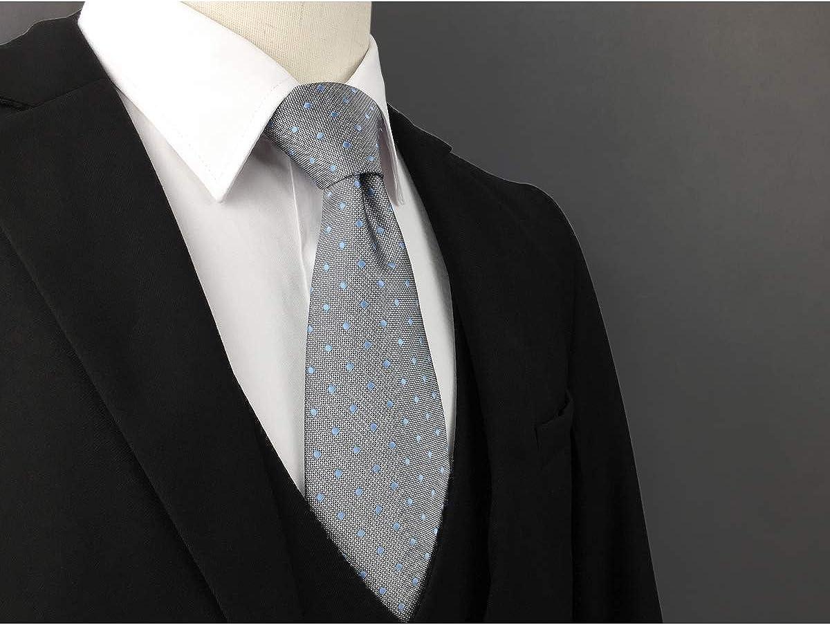 S/&W SHLAX/&WING Dark Blu Cravatta da uomo Seta Nozze Attivit/à commerciale Seta