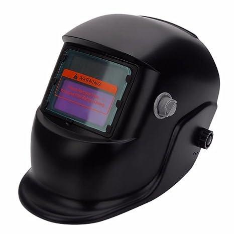 Solar - Casco de soldadura con soldador de soldar, máscara protectora de cara completa con