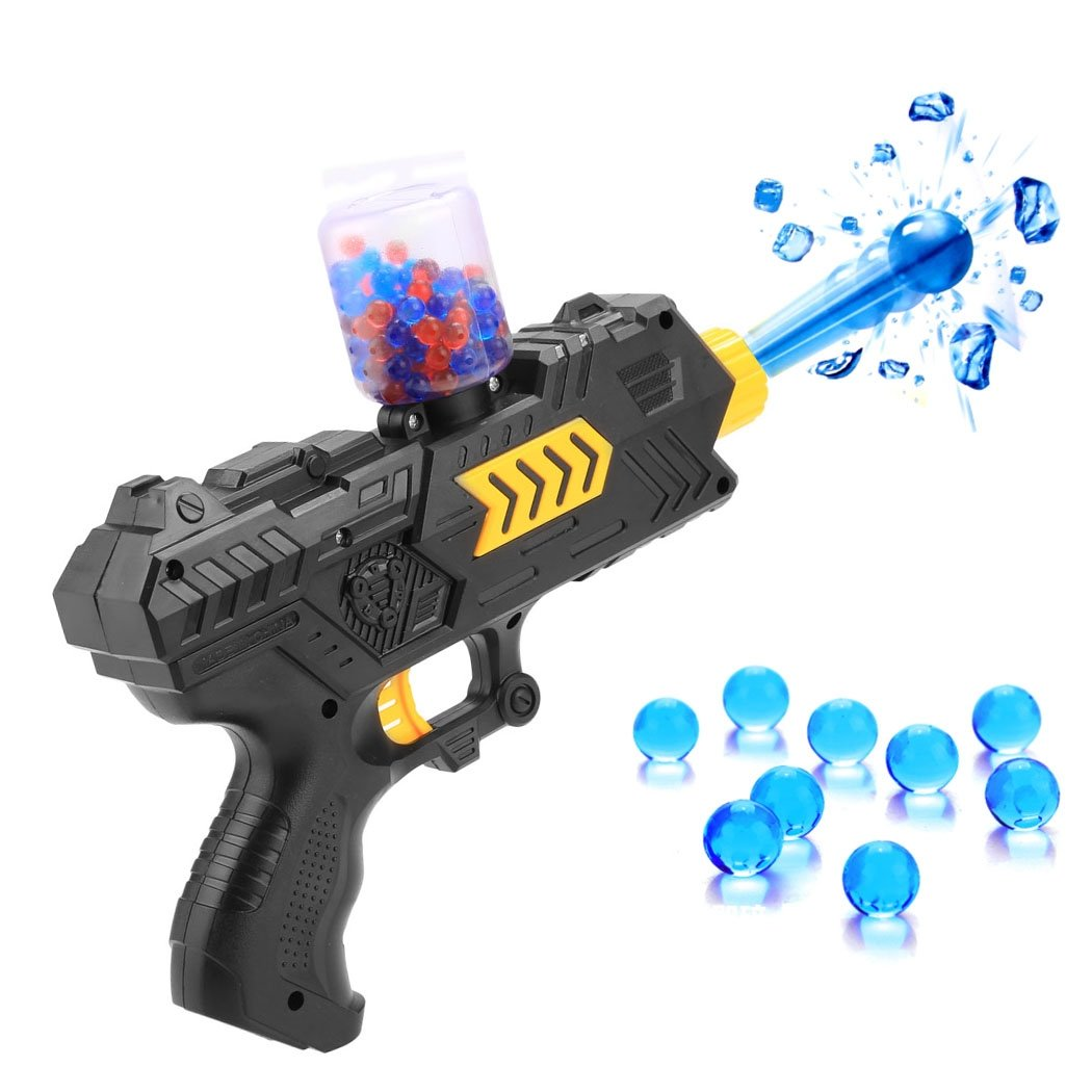 a25c97adf5fc Amazon.com  Children Kids Plastic Water Crystal Gun 2-in-1 Paintball Soft  Bullet Handgun Toys CS Game Gift Above 14Y  Toys   Games