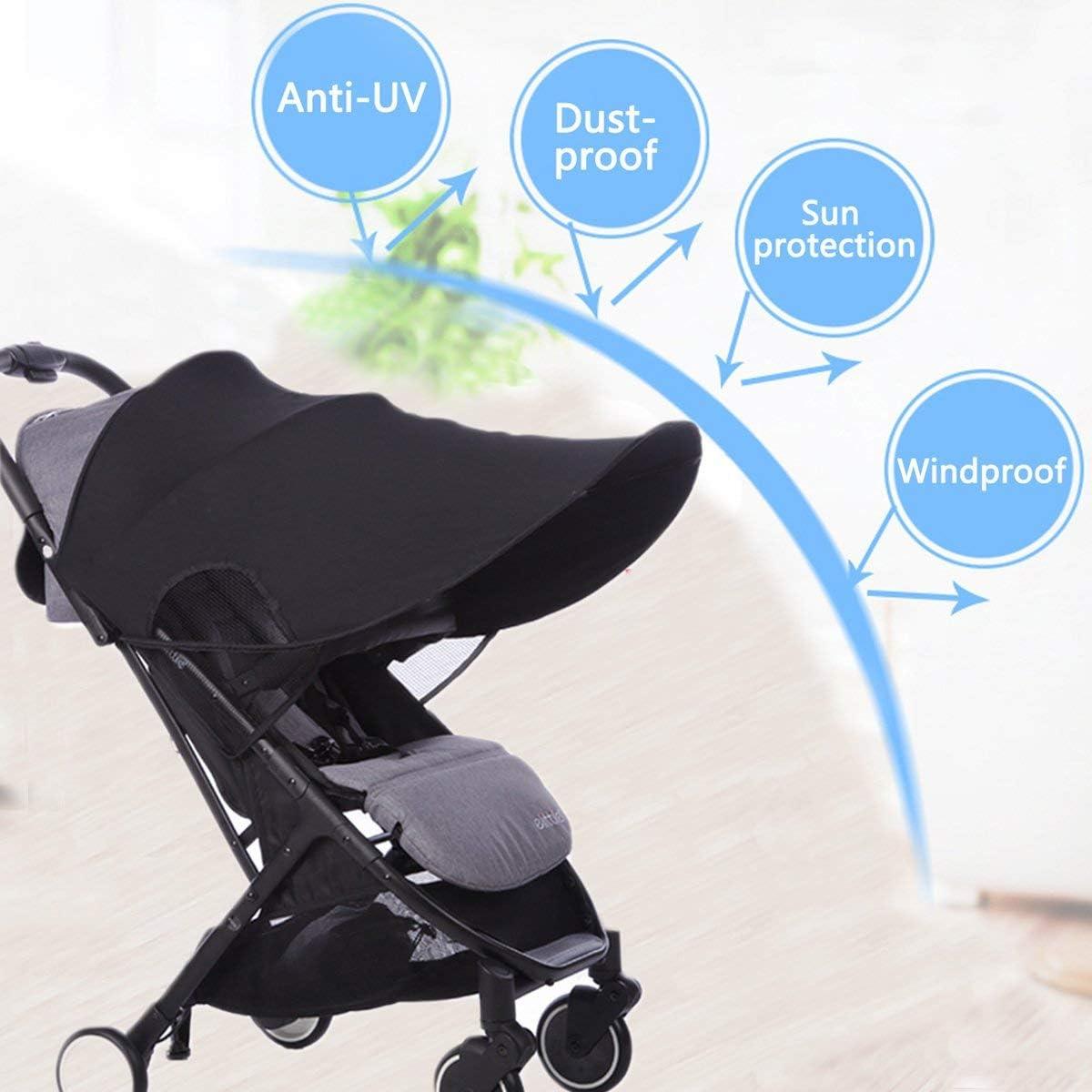 Toldo Protector Solar Universal para Cochecito de Beb/é Mosquiteros con Malla Transpirable Beb/é Coche Carritos de viaje Paseo Sombrilla Parasol Protecci/ón UV 50
