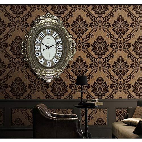 YLCJ retro amerikansk stil klockor och klocka vägg vardagsrum MUTO konst klockor hem fickur (färg: 6)