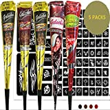 XYTMY 5 PCS India Henna Temporary Tattoo Kit, 4 Color Realistic Body Art Painting Drawing Supplies with 102 Pcs Free Henna Template Tatoos Stencils for Women and Men