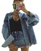 Boyfriend Basic Denim Jacket Coats Women NEW Spring Irregular Burr Fringe Back Big Holes Jeans Jacket