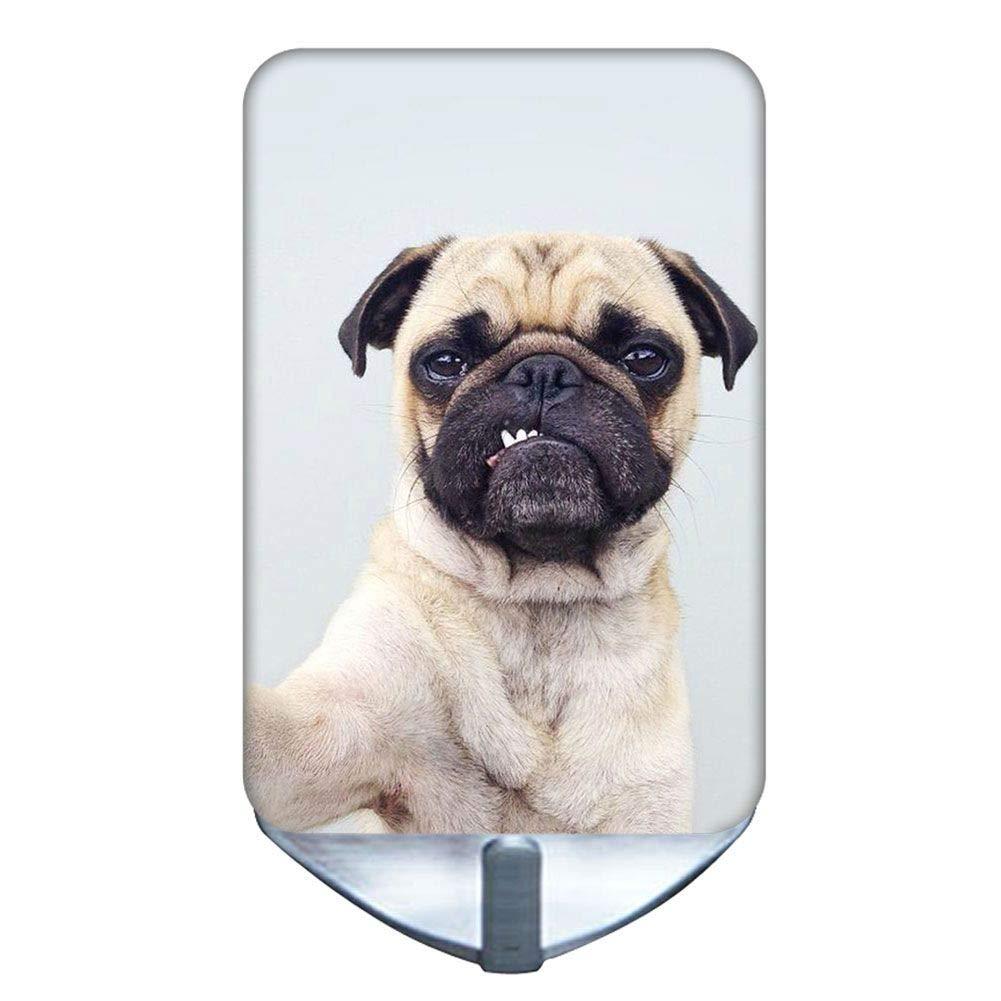 Design Pug Dog Use On Steel Wall Hook Children Interesting Oxidation-Resisting Steel