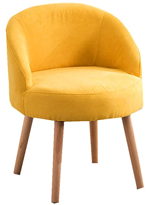 Modern Candy Yellow Leisure Arm Chairs Single Couch Seat Home Garden Living  Dining Room Furniture Sofa with Solid Wood Legs