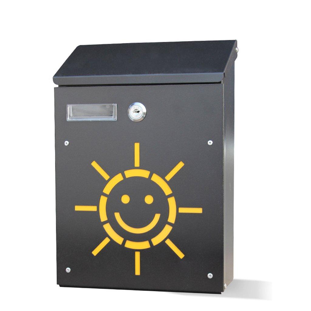 CQ 牧歌的な創造的な郵便箱の壁の吊り下げの提案箱中空の韓国のミニメールボックスのメールボックス (Color : The sun)  The sun B07F85BQLG