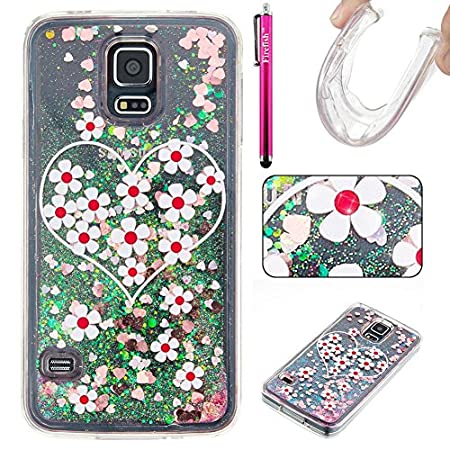 Galaxy S5 Case, Firefish Luxury Liquid Thin [SOFT-FLEX] Gel TPU Protective Skin Scratch-Proof Protective Case for Samsung Galaxy S5 -L-Bear