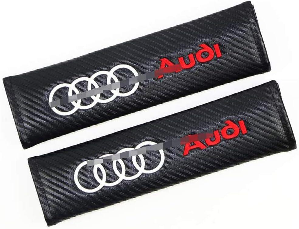 2 St/ück Karbonfaser Auto Sicherheitsgurt Schulter-Pads Gurtpolster f/ür Audi Q5 B8 TT A4L S5 A5 S6 RS7 Q7 A7 etc Rennsport Styling Schulter Gurtschutz Abdeckung All Models