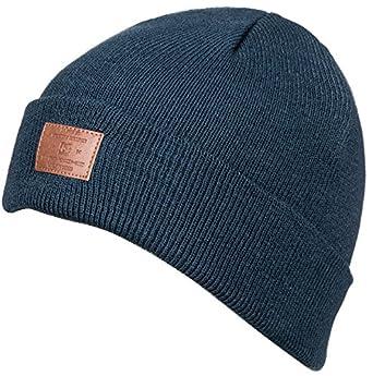 102c34bfca8 DC Boys Label Beanie Hat - Blue -  Amazon.co.uk  Clothing
