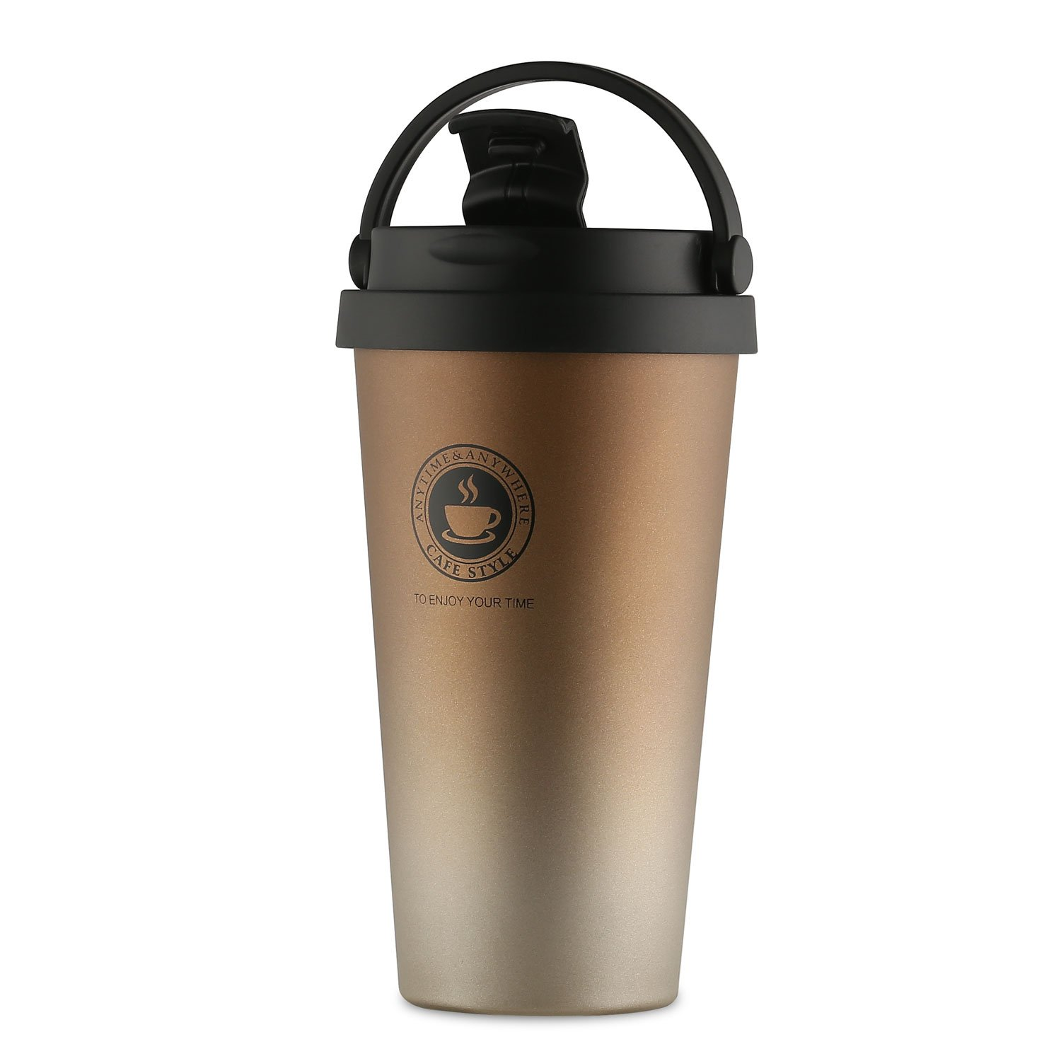 Home / portable Stainless Steel Coffee Mug Insulation / cold Beer Cup acuum Insulated Double-Walled 18/8 Stainless Steel Hydro Travel Mug Coffee color 17OZ (500ml) by SEPT MIRACLE (Image #3)